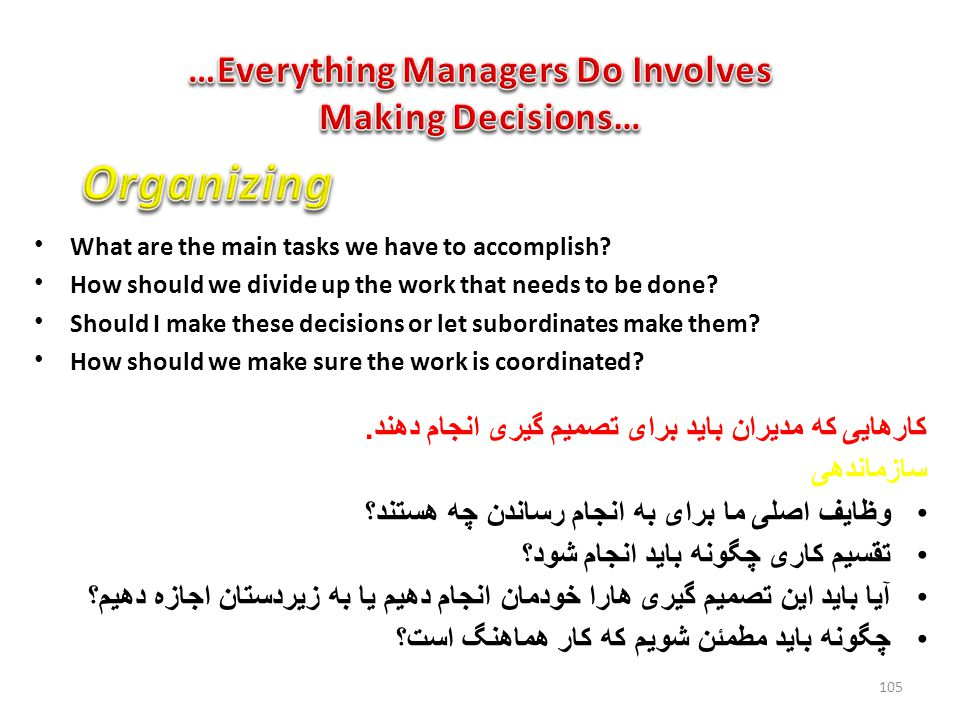 …Everything Managers Do Involves Making Decisions…