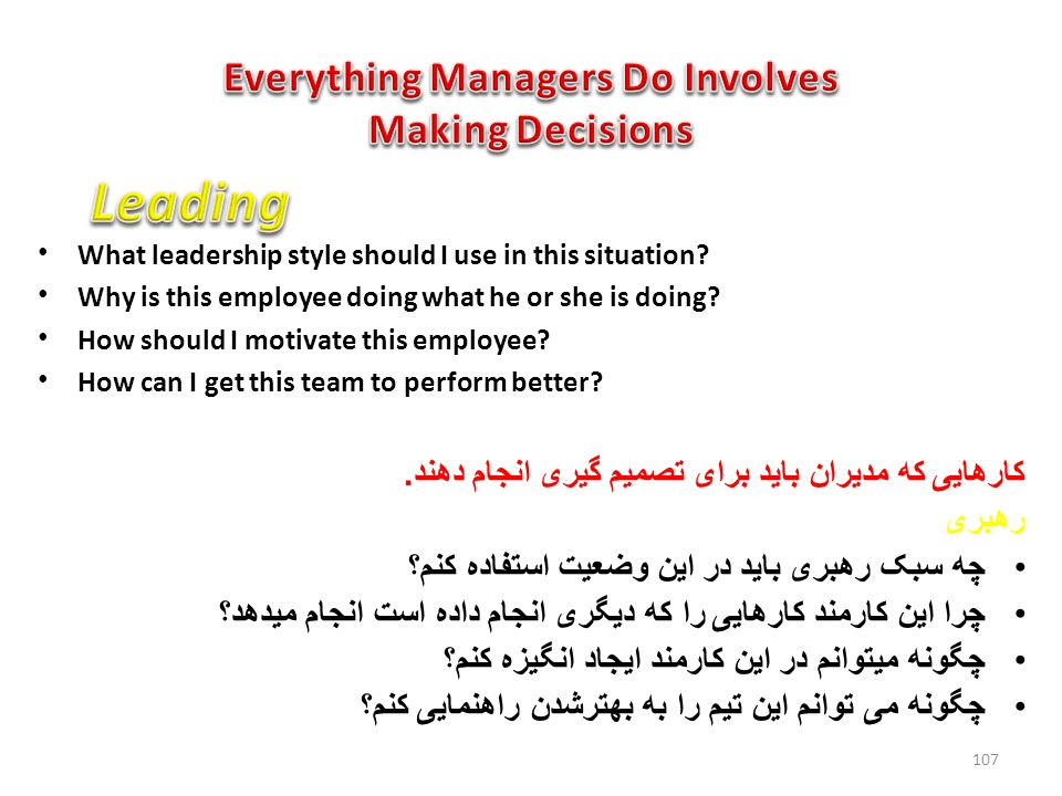 Everything Managers Do Involves Making Decisions