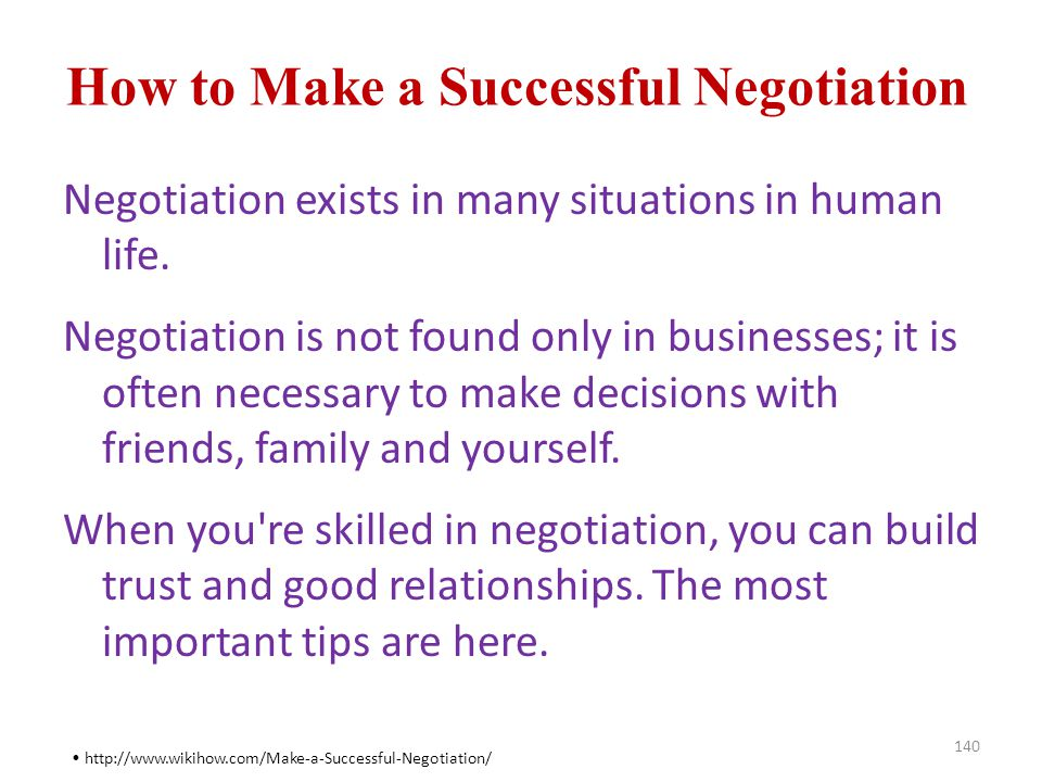 How to Make a Successful Negotiation
