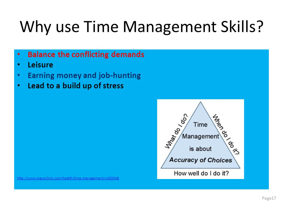 Why use Time Management Skills