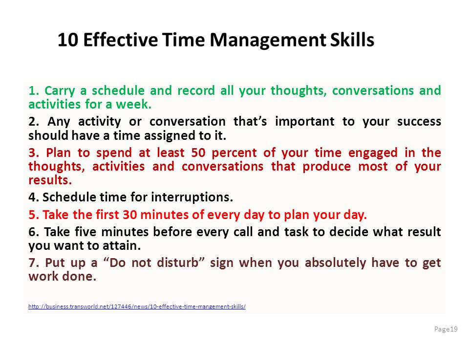 10 Effective Time Management Skills