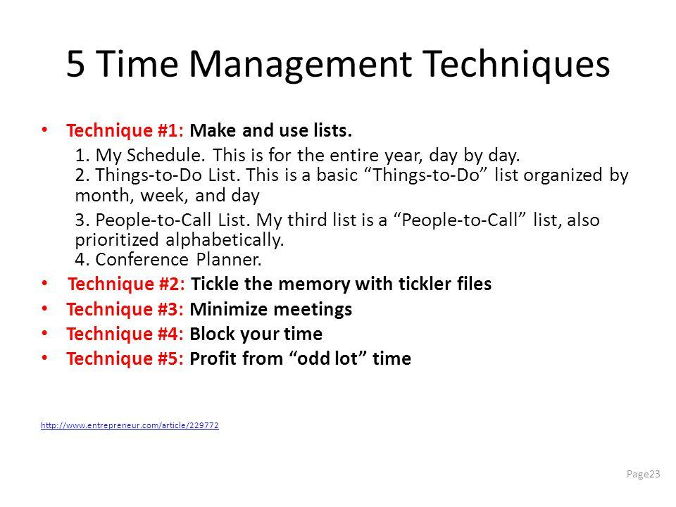 5 Time Management Techniques