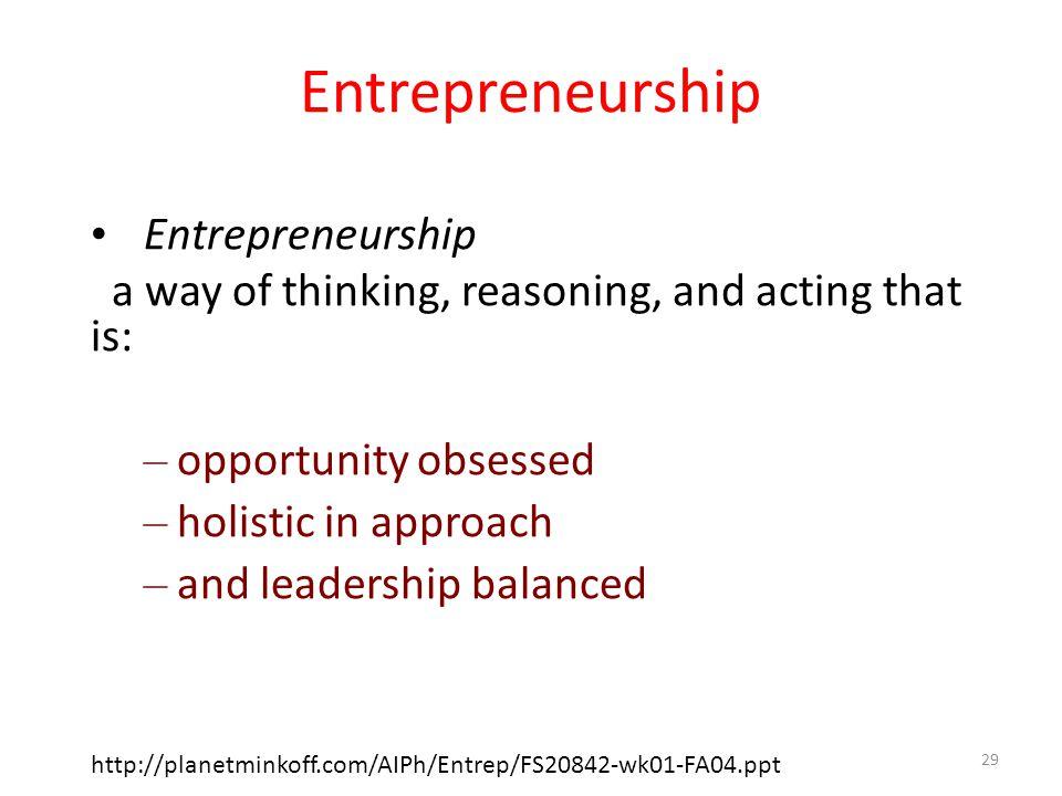 Entrepreneurship Entrepreneurship