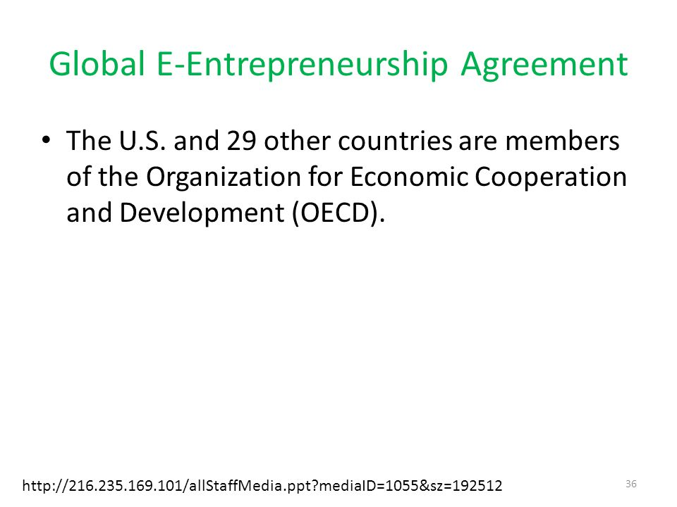 Global E-Entrepreneurship Agreement