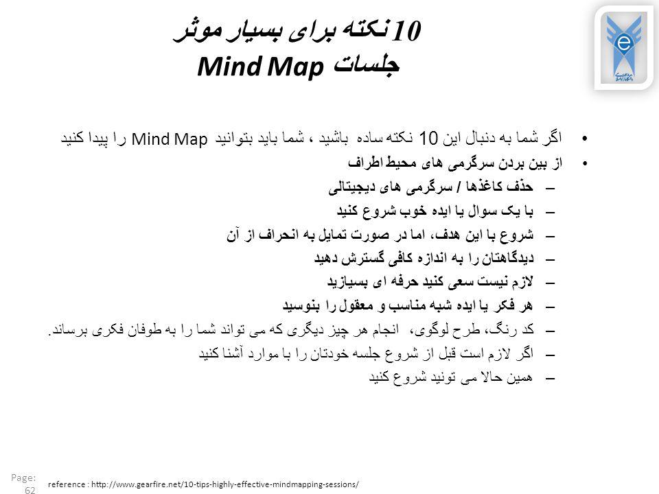 10 نکته برای بسیار موثر جلسات Mind Map