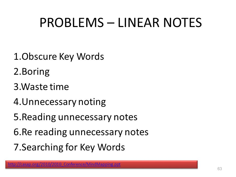 PROBLEMS – LINEAR NOTES