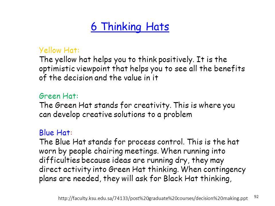 6 Thinking Hats