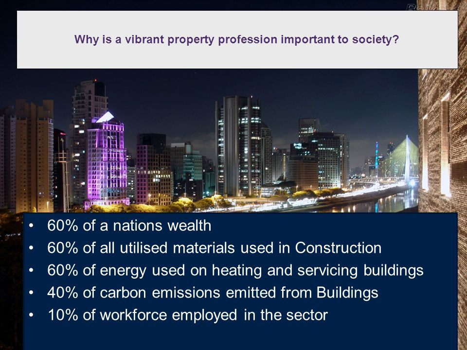 Why is a vibrant property profession important to society