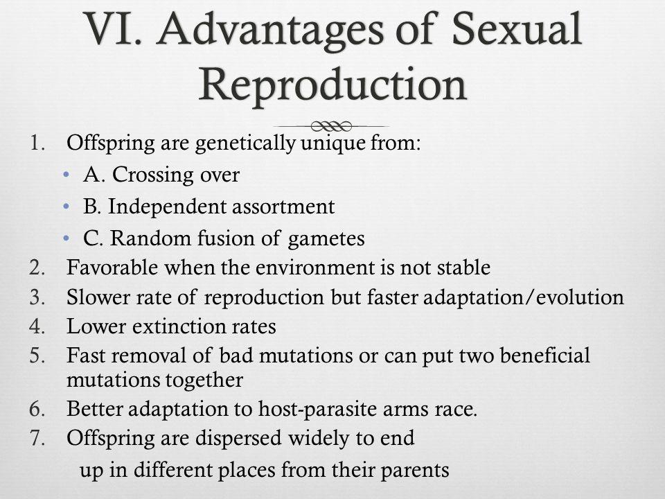 VI. Advantages of Sexual Reproduction