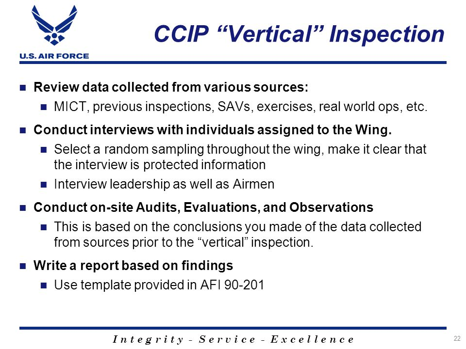 CCIP Vertical Inspection