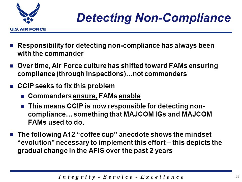 Detecting Non-Compliance