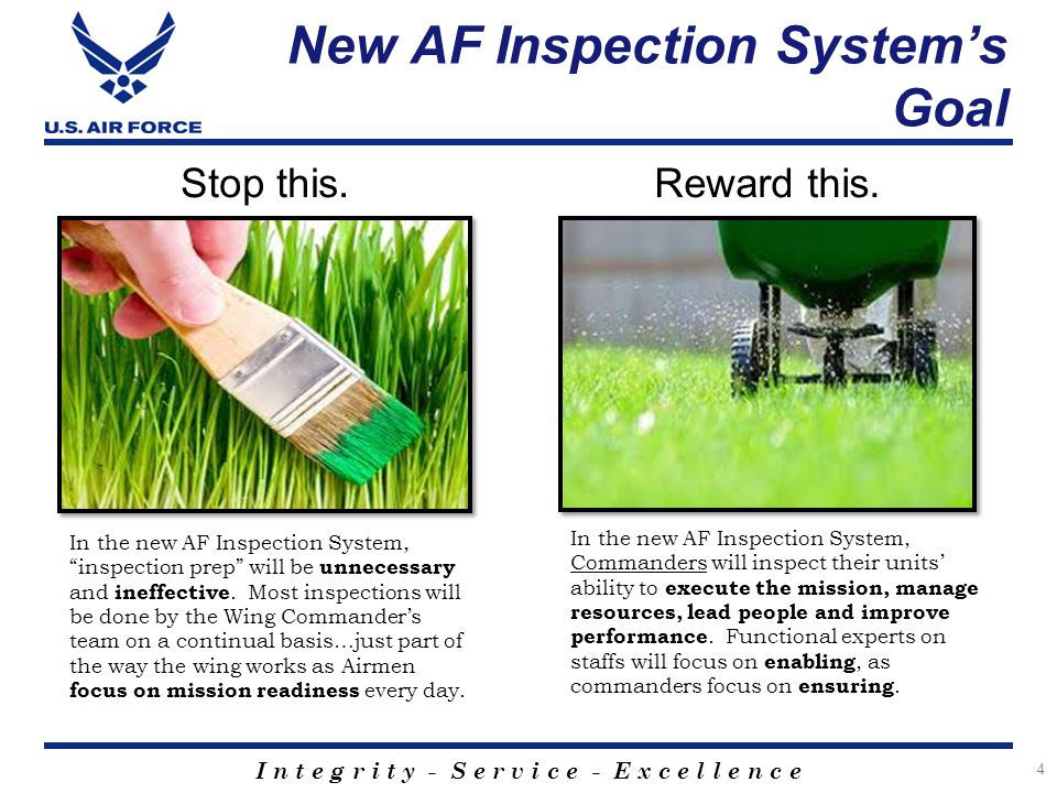 New AF Inspection System's Goal