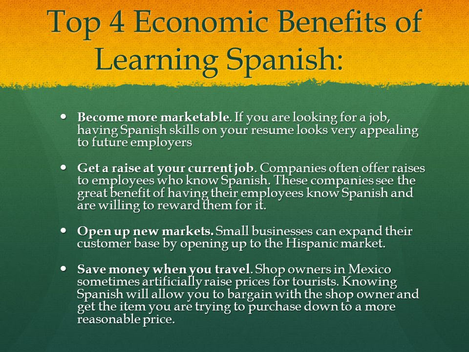 Top 4 Economic Benefits of Learning Spanish: