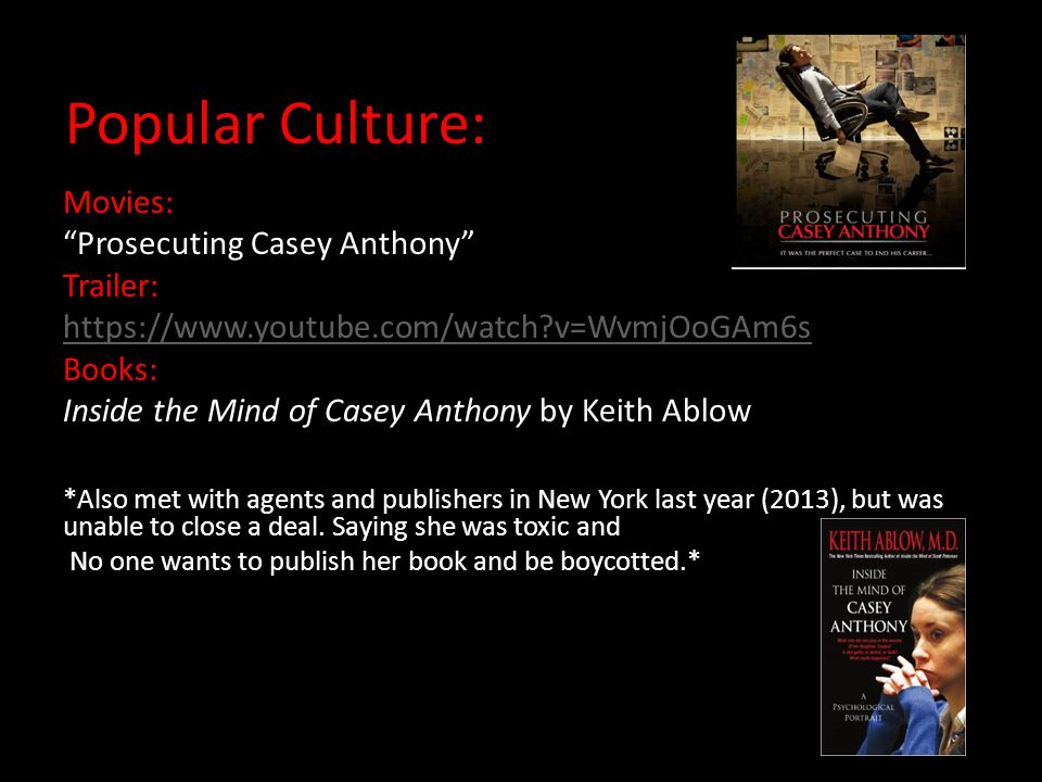 Popular Culture: Movies: Prosecuting Casey Anthony Trailer: