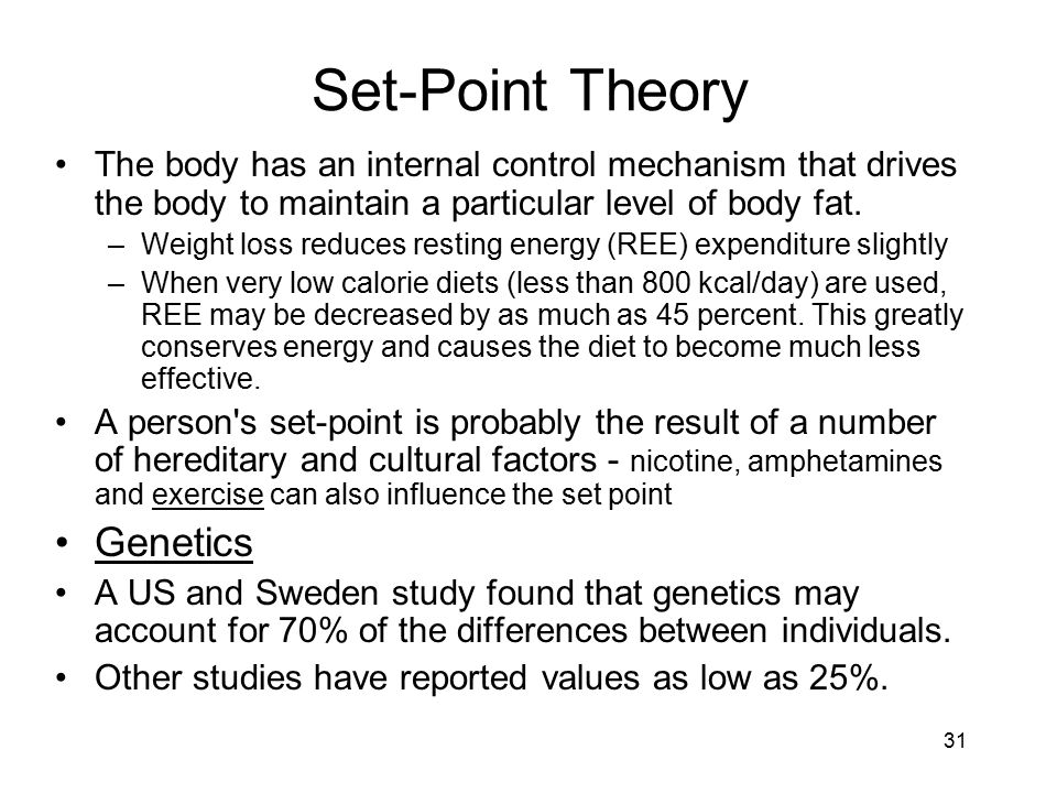Set-Point Theory Genetics