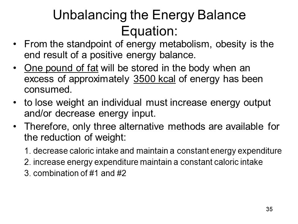 Unbalancing the Energy Balance Equation: