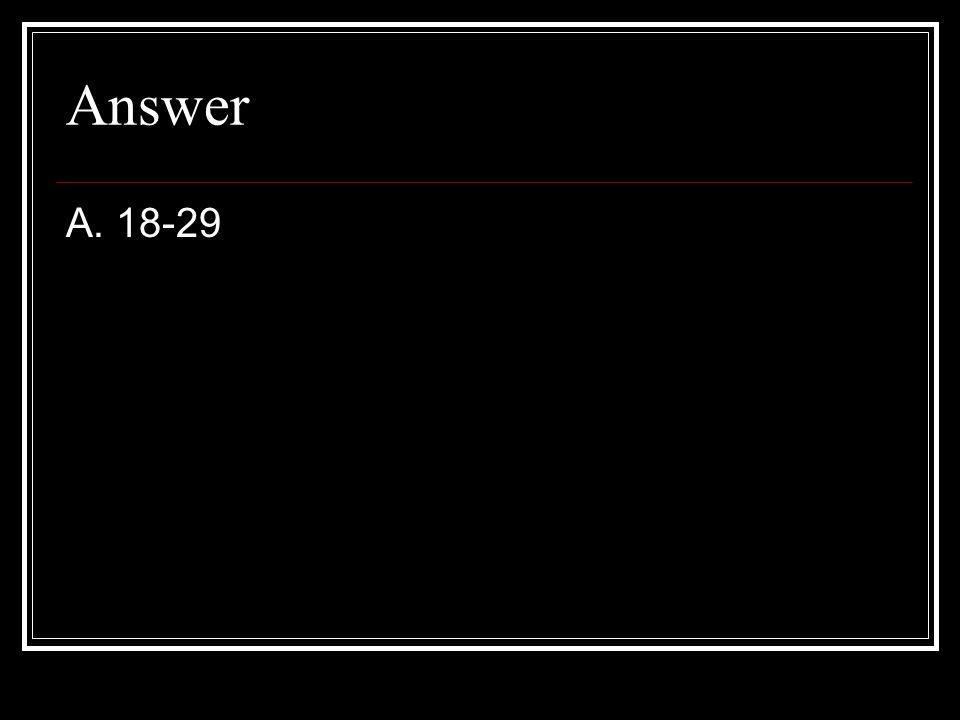 Answer A. 18-29