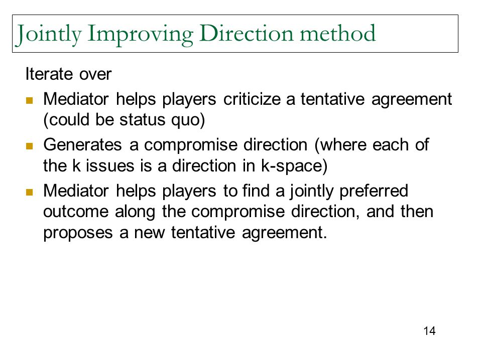 Jointly Improving Direction method