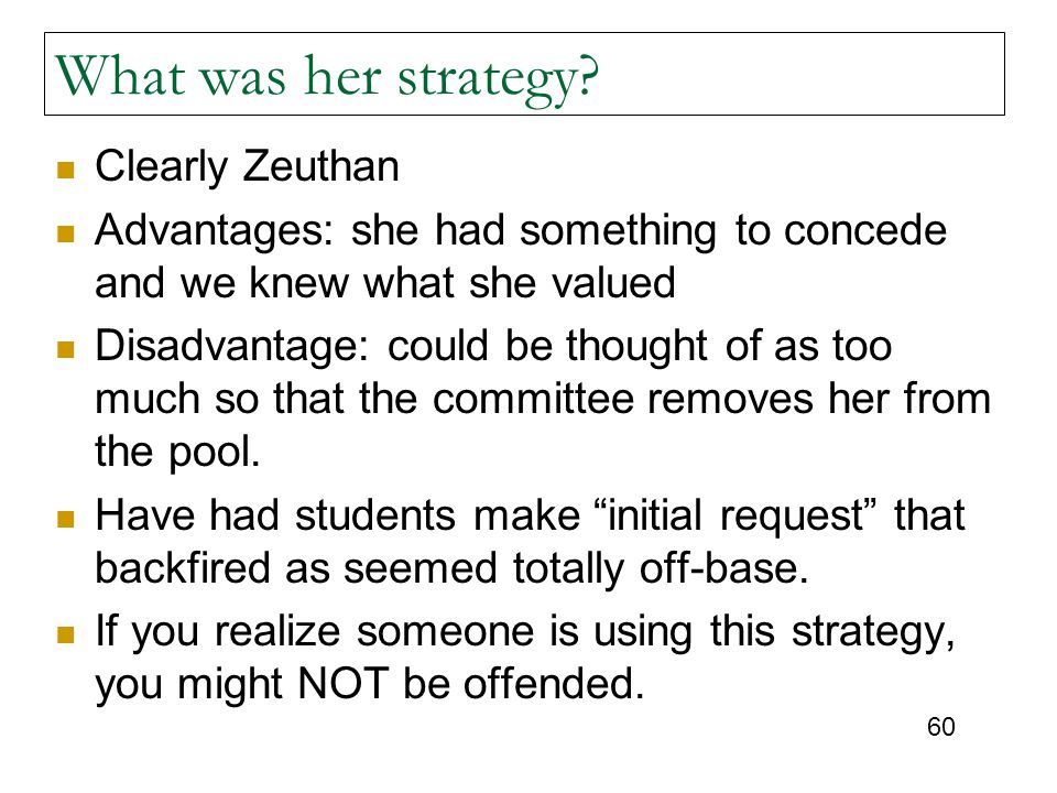 What was her strategy Clearly Zeuthan