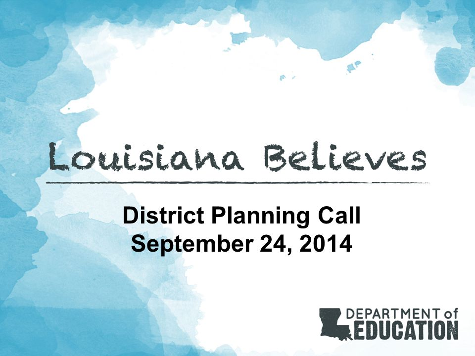 District Planning Call