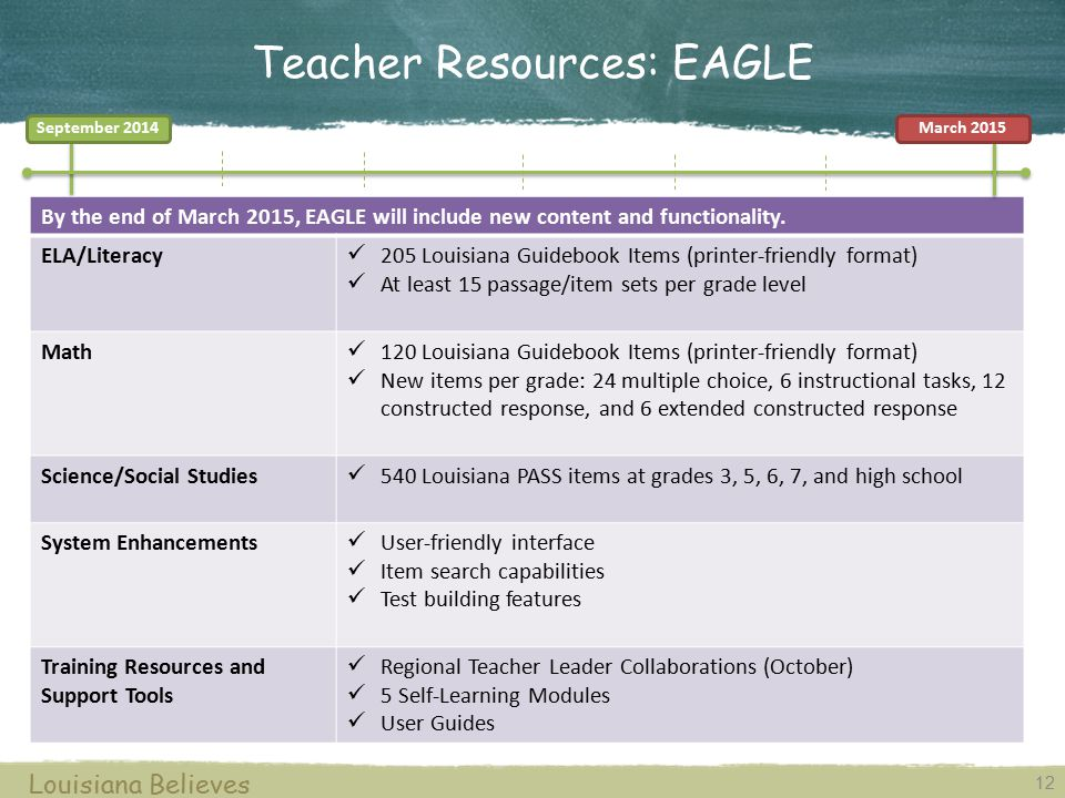 Teacher Resources: EAGLE