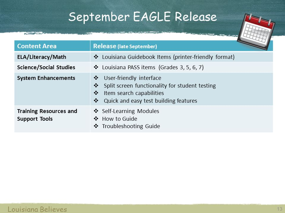 September EAGLE Release