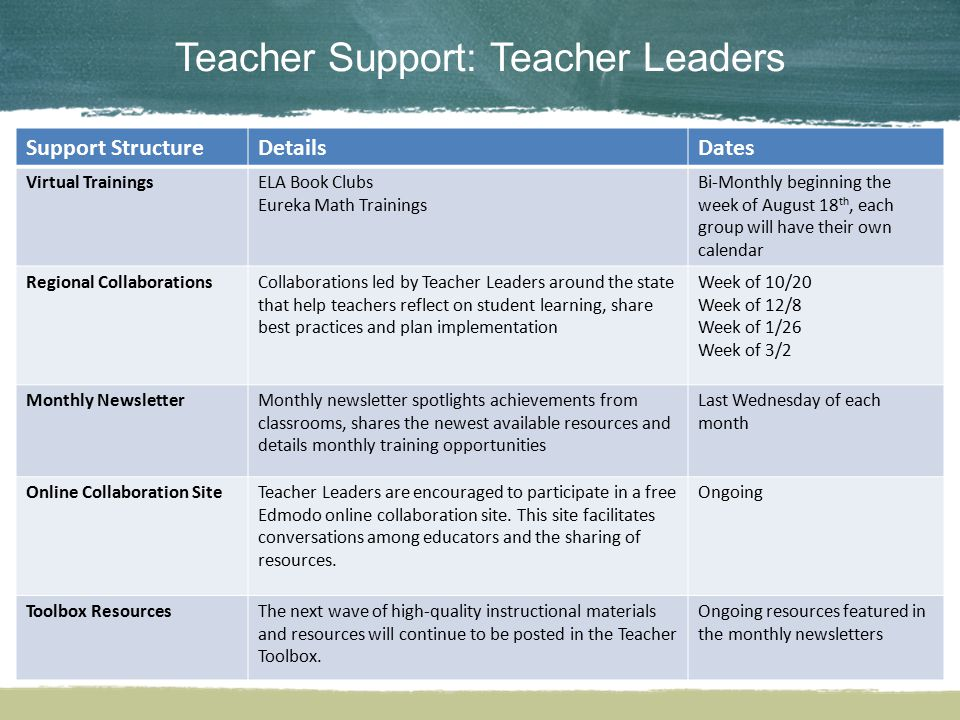 Teacher Support: Teacher Leaders