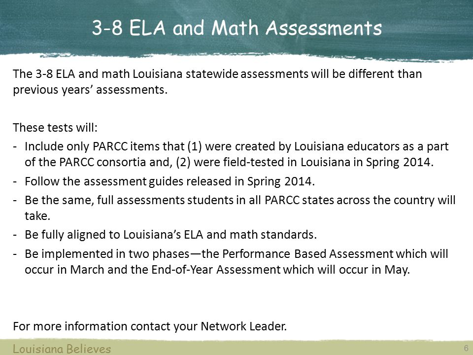 3-8 ELA and Math Assessments