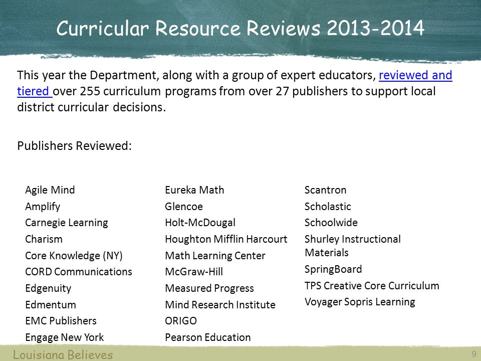 Curricular Resource Reviews 2013-2014