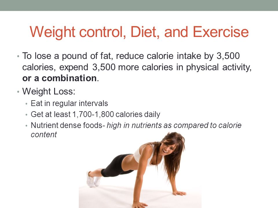 Weight control, Diet, and Exercise