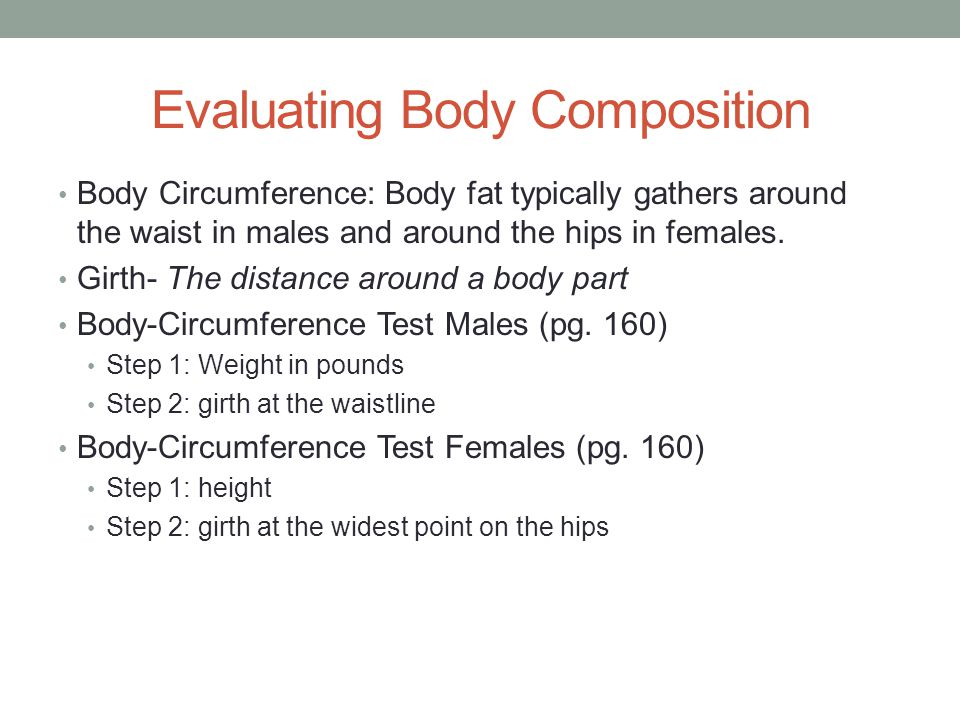 Evaluating Body Composition