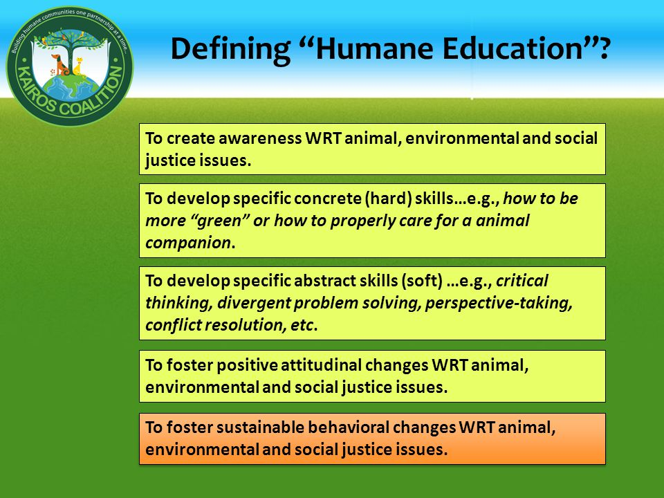 Defining Humane Education