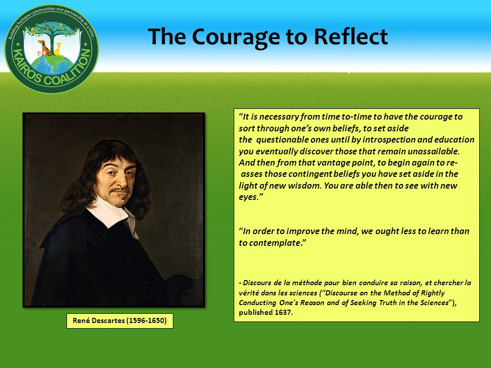The Courage to Reflect