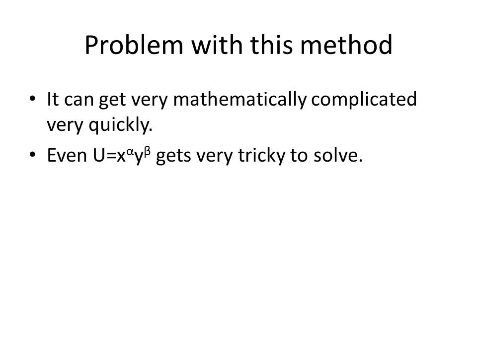 Problem with this method