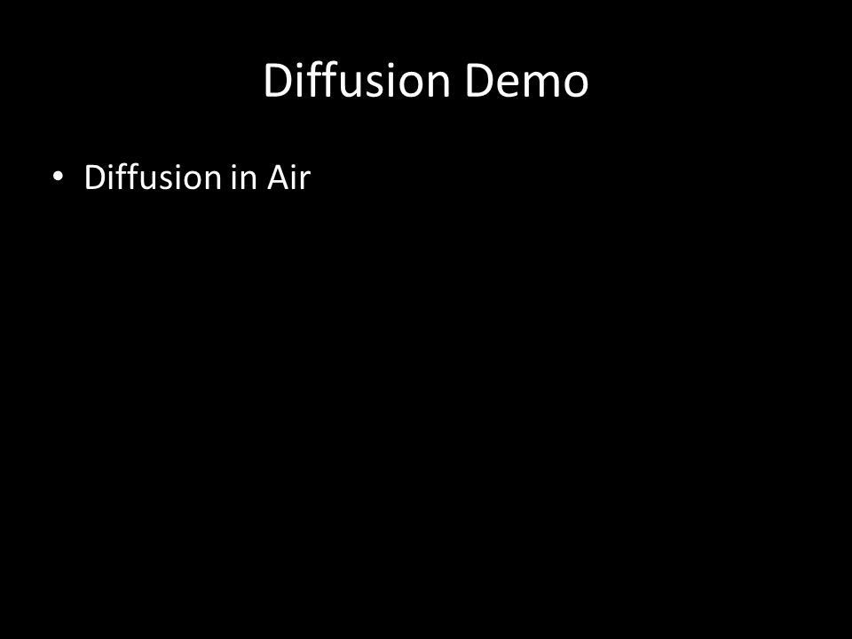 Diffusion Demo Diffusion in Air