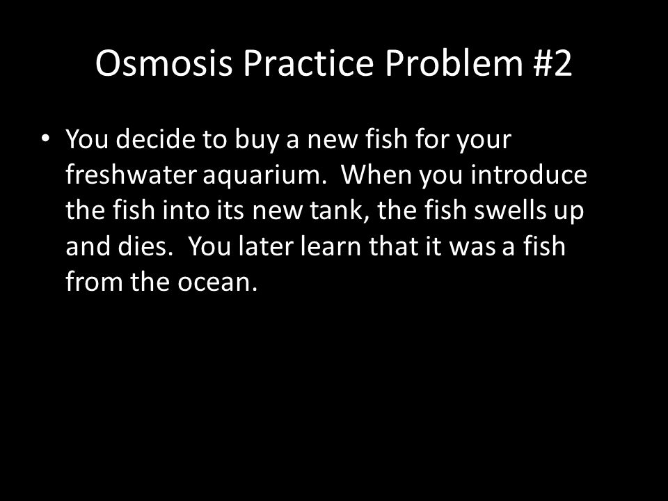 Osmosis Practice Problem #2