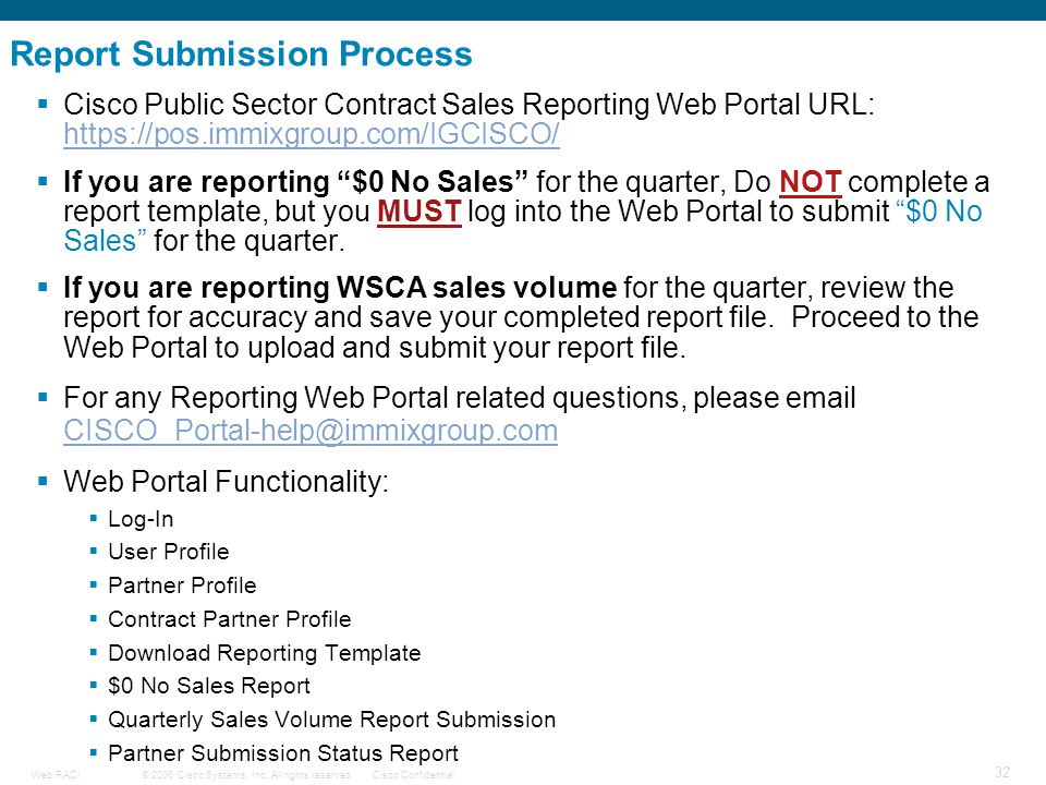 Report Submission Process