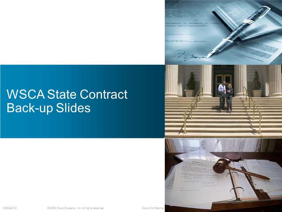 WSCA State Contract Back-up Slides