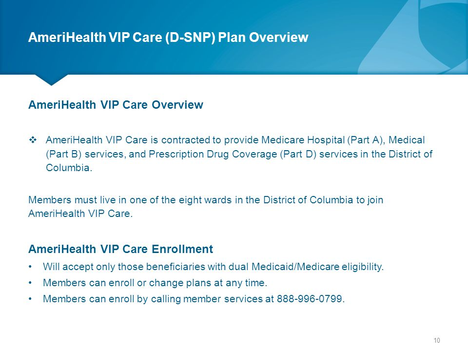 AmeriHealth VIP Care (D-SNP) Plan Overview