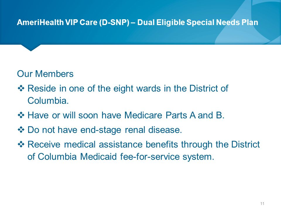 AmeriHealth VIP Care (D-SNP) – Dual Eligible Special Needs Plan