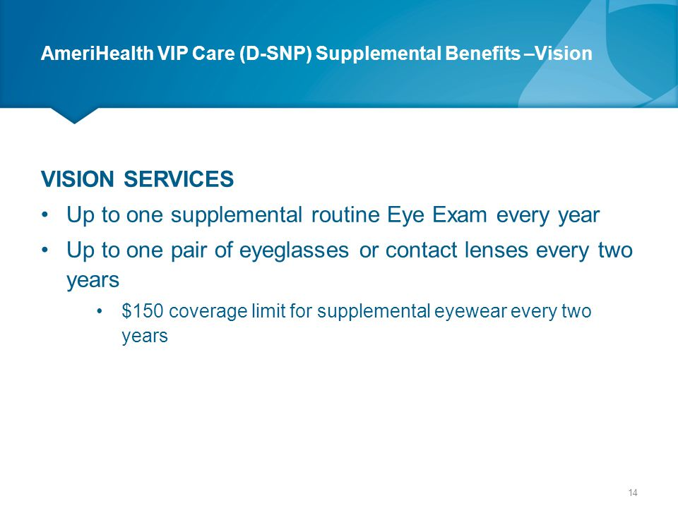 AmeriHealth VIP Care (D-SNP) Supplemental Benefits –Vision