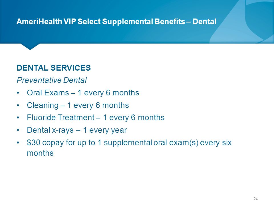 AmeriHealth VIP Select Supplemental Benefits – Dental