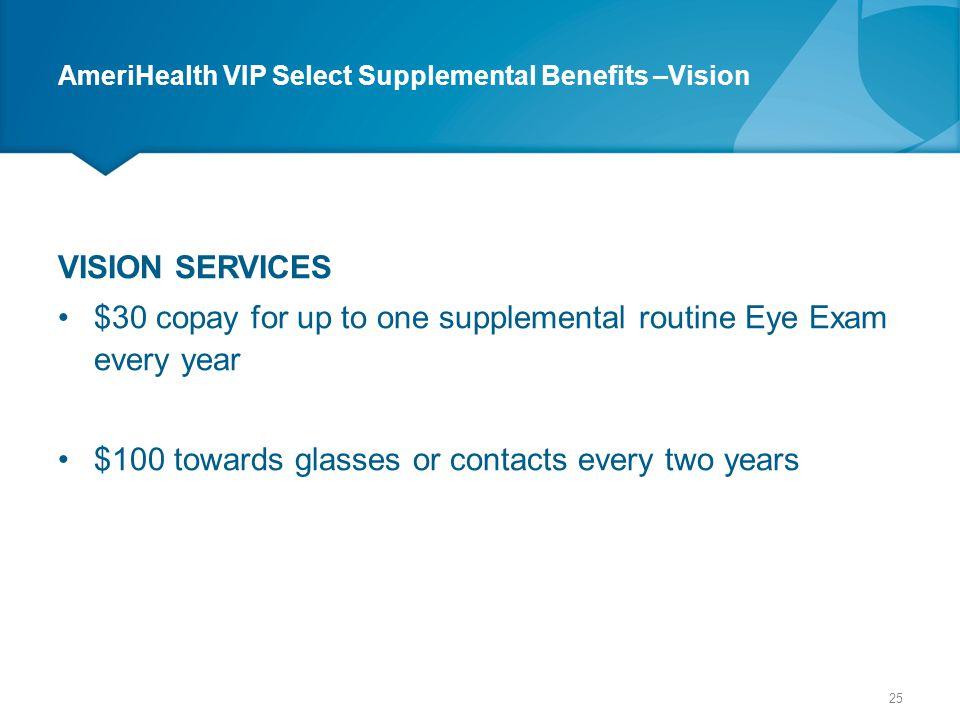 AmeriHealth VIP Select Supplemental Benefits –Vision