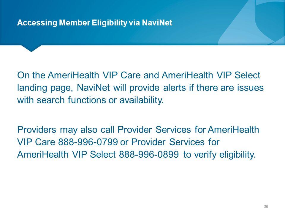 Accessing Member Eligibility via NaviNet