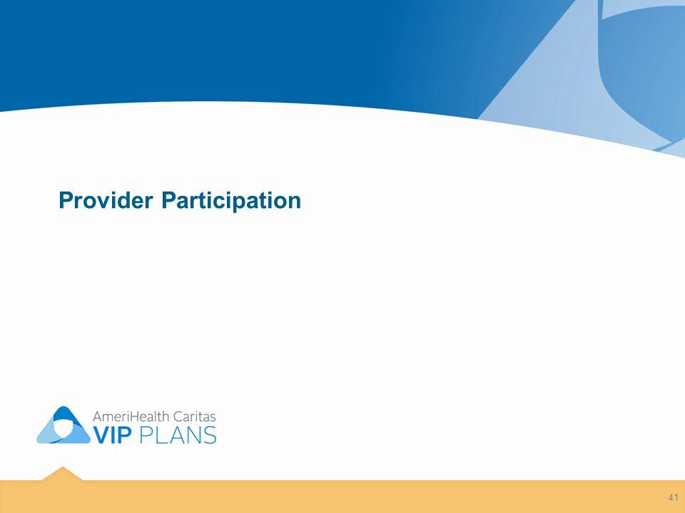 Provider Participation