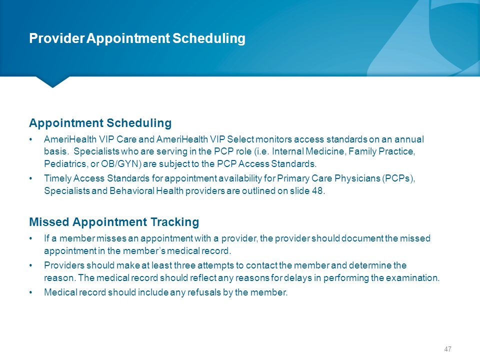 Provider Appointment Scheduling