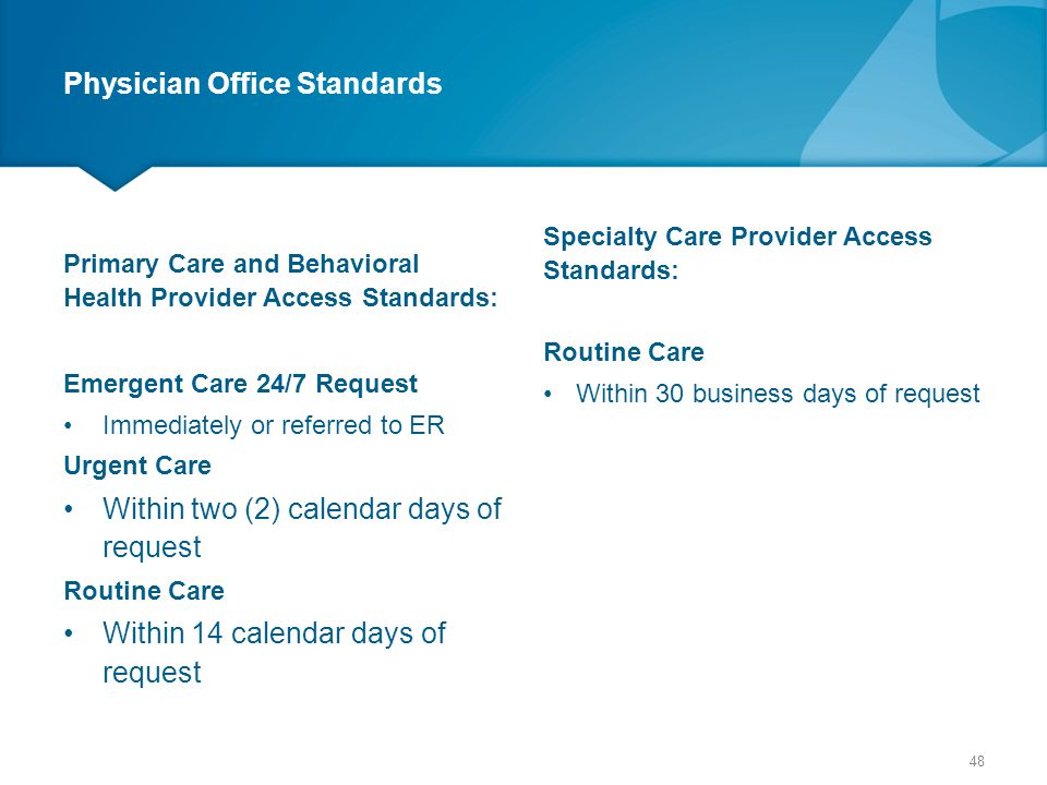 Physician Office Standards