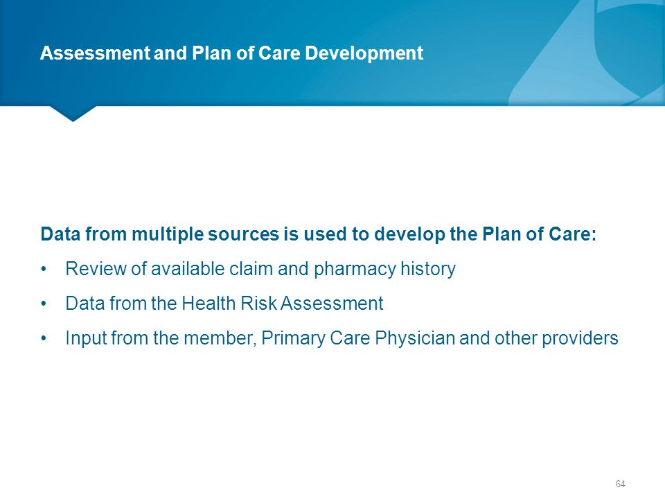 Assessment and Plan of Care Development