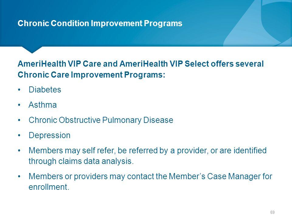 Chronic Condition Improvement Programs