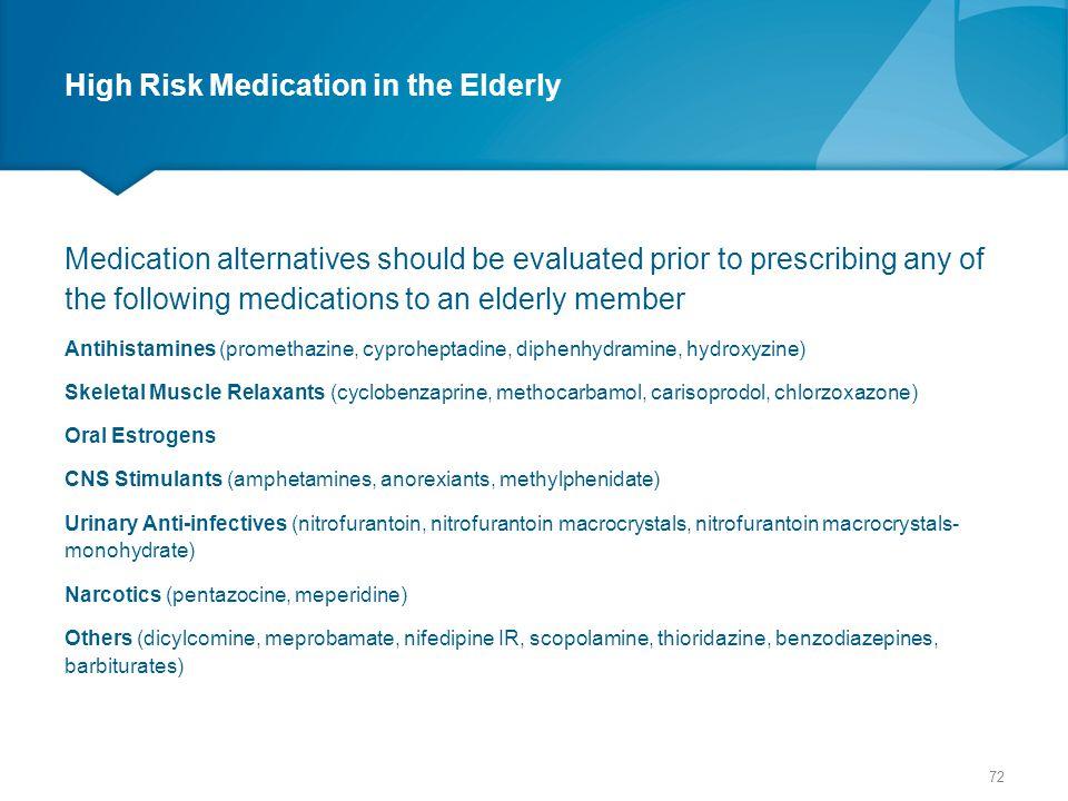 High Risk Medication in the Elderly